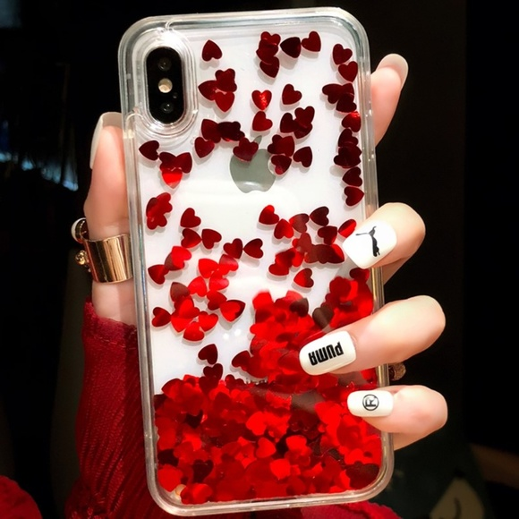 new styles 0e64a b0386 iPhone X Red Heart Case